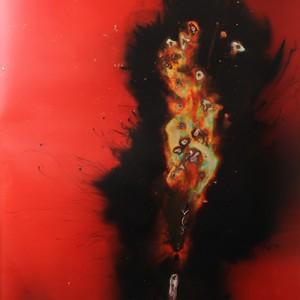 """Cavern-of-light"", 2014, ca. 230x127cm, Rocketogram / Color-Photogram, unique"