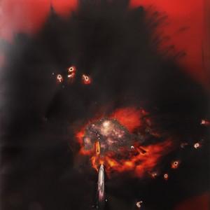 """""""Chrysaor"""", 2014, ca. 230x127cm, Rocketogram / Color-Photogram, unique"""