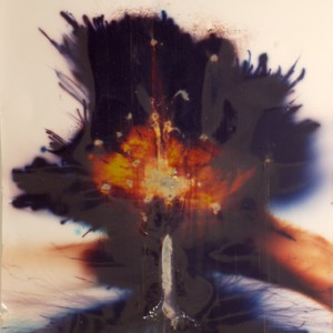 """""""Rafael Shafir"""", 2006, ca. 180x130cm, Rocketogram / Color-Photogram, unique"""