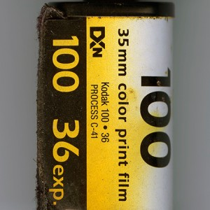 one year long the film, Kodak 100, was exposed to the weather, outsides corusion, than developed