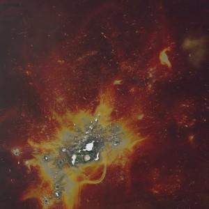 """Fire-Splash"", 2014, ca. 250x180cm, colorphotogram-scan/Fine Art Print, 2+1AP / 110x80cm, 50+1AP"
