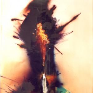 """""""Genie"""", 2006, ca. 180x130cm, Rocketogram / Color-Photogram, unique"""