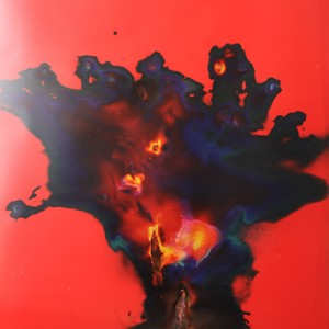 """Rayactor"", 2014, ca. 230x127cm, Rocketogram / Color-Photogram, unique"