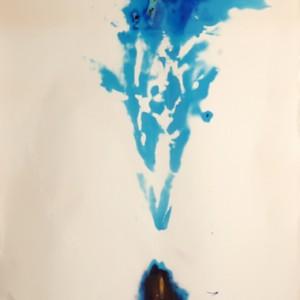 """Sea Dragon"", 2006, ca. 180x130cm, Rocketogram / Color-Photogram, unique"