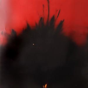 """Sunken-Exposure"", 2014, ca. 230x127cm, Rocketogram / Color-Photogram, unique"