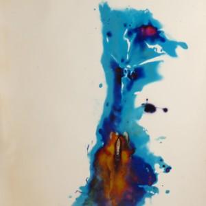 """Super Sabre"", 2006, ca. 180x130cm, Rocketogram / Color-Photogram, unique"