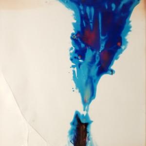 """Titan"", 2006, ca. 180x130cm, Rocketogram / Color-Photogram, unique"