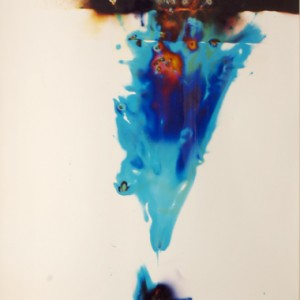 """Venture-Star"", 2006, ca. 180x130cm, Rocketogram / Color-Photogram, unique"