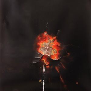 """Vympel"", 2014, ca. 230x127cm, Rocketogram / Color-Photogram, unique"