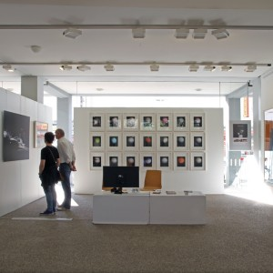 Documentation view at the booth of the 22. Karlsruher Artist Fair 2015