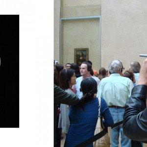 """ML6"", ongoing seria, ca. 30x24cm, Lambdaprint, 1+1 AP / right picture: documentation view during work process at the Louvre, Paris 2014"