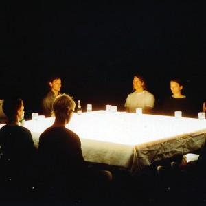 "2002 ""Passiv Action- Active Patience"", Gruppenperformance mit Uwe Laysiepen,HfG-Karlsruhe"