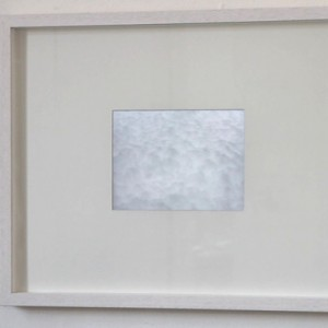 """Snowcloud"", 14,5×19,5 cm retina dispaly in objectframe"