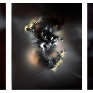 """UC I triptych no.2″, 2016, je ca. 120x90cm, photogram on colorfilm/C-Print analog, 2+1 AP"